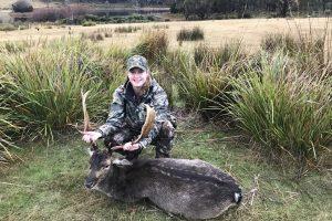 Jess' first fallow buck