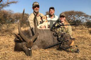 Tash with her Nyala bull bow hunt