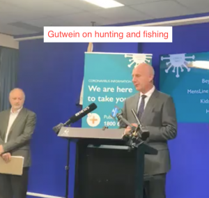 Premier Gutwein on hunting and fishing